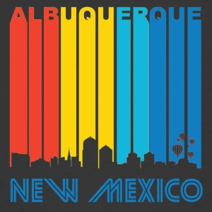 Retro Albuquerque Skyline - Men's 50/50 T-Shirt
