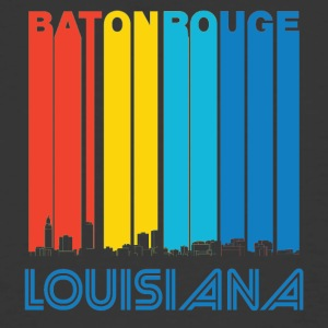 Retro Baton Rouge Louisiana Skyline - Men's 50/50 T-Shirt