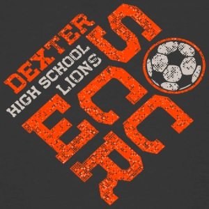 Dexter High School Lions Soccer - Men's 50/50 T-Shirt