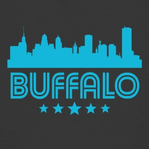 Retro Buffalo Skyline - Men's 50/50 T-Shirt