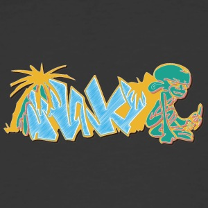 monkey_graffiti_blue - Men's 50/50 T-Shirt