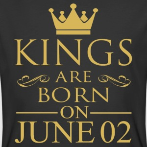 Kings are born on June 02 - Men's 50/50 T-Shirt