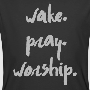 Wake Pray Worship (Grey) - Men's 50/50 T-Shirt