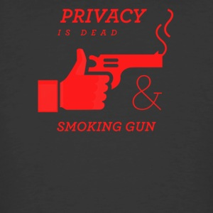 Privacy is dead and smoking gun - Men's 50/50 T-Shirt