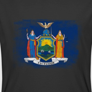 New York State Flag Distressed Vintage - Men's 50/50 T-Shirt
