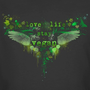 Live Life – Stay Vegan [green] - Men's 50/50 T-Shirt
