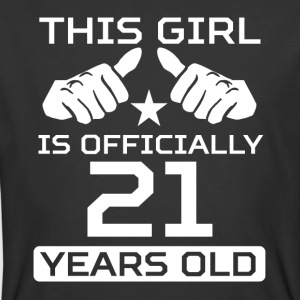 This Girl Is 21 Years Funny 21st Birthday - Men's 50/50 T-Shirt