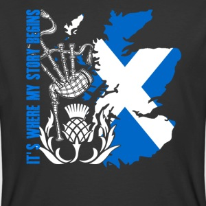 SCOTLAND IT'S WHERE MY STORY BEGINS SHIRT - Men's 50/50 T-Shirt