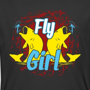FLY FISHING GIRL SHIRT - Men's 50/50 T-Shirt