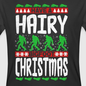 Hairy Bigfoot Christmas Shirt - Men's 50/50 T-Shirt