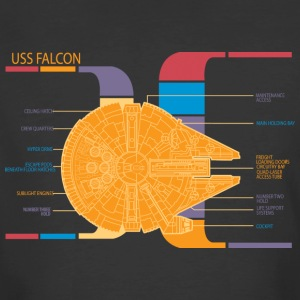 Falcon Ships Schematics T Shirt - Men's 50/50 T-Shirt