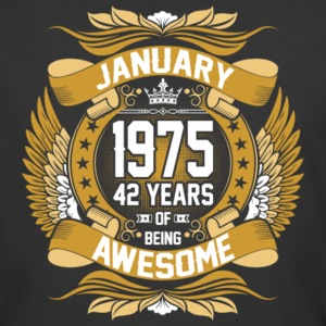 Anuary 1975 42 Years Of Being Awesome - Men's 50/50 T-Shirt