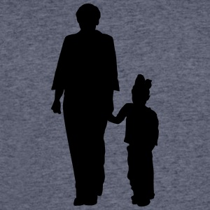 mother and doughter silhouettes - Men's 50/50 T-Shirt