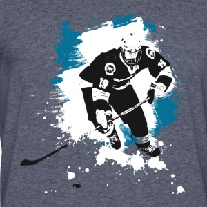 icehockey hockey puck player team sport ice LOL fu - Men's 50/50 T-Shirt