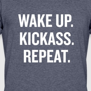 Wake Up Kick Ass - Men's 50/50 T-Shirt