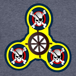 Fidget Spinner - CROSS BONES AND SKULLS - Men's 50/50 T-Shirt