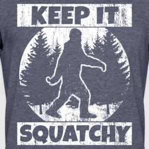 Funny Sasquatch Shirt: Keep It Squatchy - Men's 50/50 T-Shirt