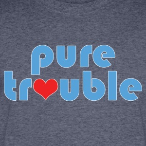 Humorous Pure Trouble and Heart Design - Men's 50/50 T-Shirt