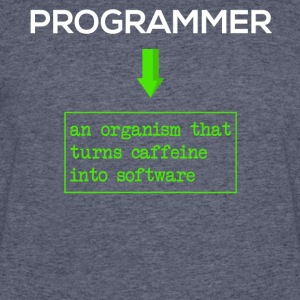 Programmer-Turn caffeine into software-Funny Shirt - Men's 50/50 T-Shirt