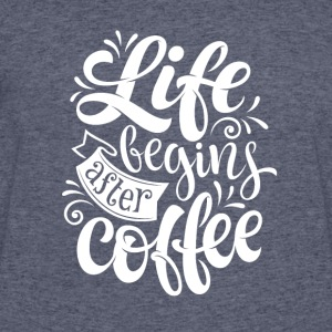 LIFE BEGINS AFTER COFFEE - Men's 50/50 T-Shirt