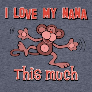 I love my Nana this much - Men's 50/50 T-Shirt