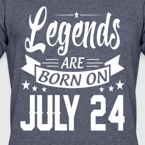 Legends are born on July 24 - Men's 50/50 T-Shirt