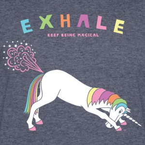Down Dog Unicorn Exhale - Men's 50/50 T-Shirt