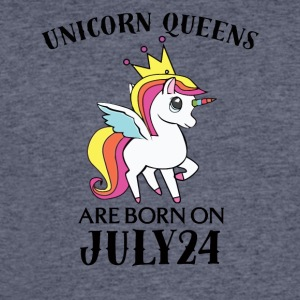 Unicorn Queens Are Born On July 24 - Men's 50/50 T-Shirt