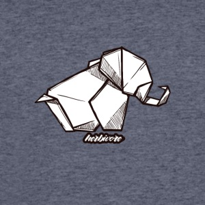 Herbivore Elephant Origami Design - Men's 50/50 T-Shirt