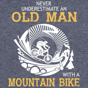 Old Man With A Mountain Bike T Shirt - Men's 50/50 T-Shirt