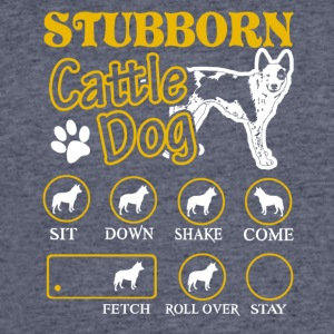 Stubborn Australian Cattle Dog Tricks Tee Shirt - Men's 50/50 T-Shirt