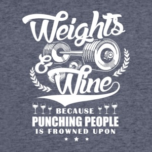 Weights And Wine - Men's 50/50 T-Shirt