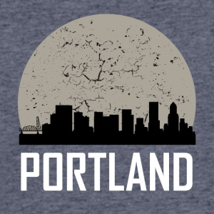 Portland Full Moon Skyline - Men's 50/50 T-Shirt