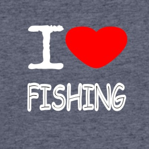 I LOVE FISHING - Men's 50/50 T-Shirt
