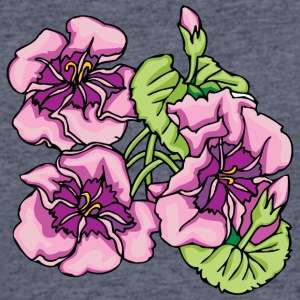 big_pink_flowers - Men's 50/50 T-Shirt