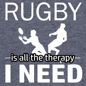 Rugby is my therapy - Men's 50/50 T-Shirt