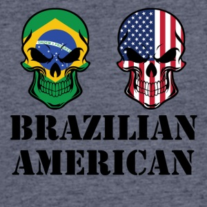 Brazilian American Flag Skulls - Men's 50/50 T-Shirt