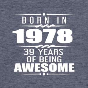 Born in 1978 39 Years of Being Awesome - Men's 50/50 T-Shirt