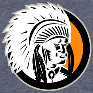angry_looking_indian_chief_white - Men's 50/50 T-Shirt