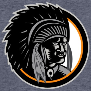 angry_looking_indian_chief_black - Men's 50/50 T-Shirt