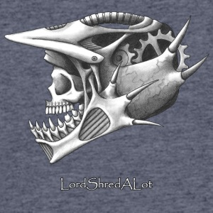 Downhill Skull - Men's 50/50 T-Shirt
