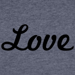 Love - Cursive Design (Black Letters) - Men's 50/50 T-Shirt