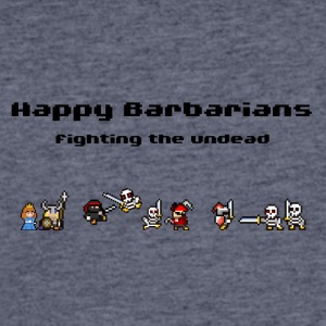 Happy Barbarians - fighting the undead - Men's 50/50 T-Shirt
