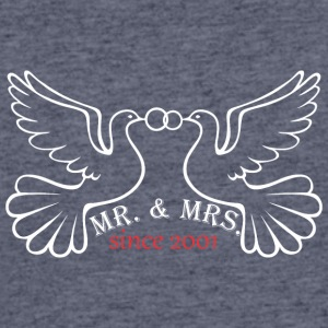 Mr And Mrs Since 2001 Married Marriage Engagement - Men's 50/50 T-Shirt