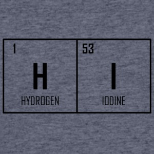 HI - Periodic Table Design - Men's 50/50 T-Shirt