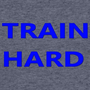 TRAIN HARD BLUE - Men's 50/50 T-Shirt