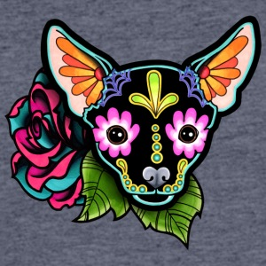 Chihuahua in Black Day of the Dead Sugar Skull Dog - Men's 50/50 T-Shirt