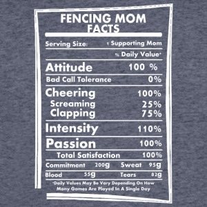 Fencing Mom Facts Daily Values May Be Vary - Men's 50/50 T-Shirt