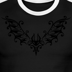 Filigree bat illustration - Men's Ringer T-Shirt