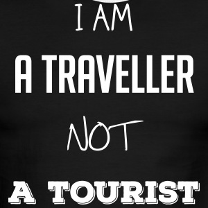 I am a traveller not a tourist - Men's Ringer T-Shirt